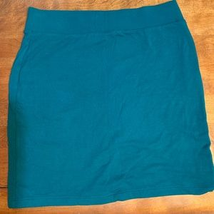 Forever 21 Forest Green Cotton Skirt L